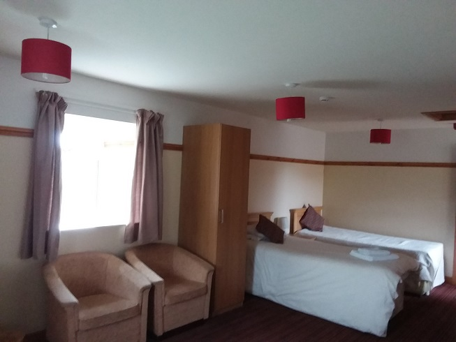 Family rooms include 1 or 2 single beds